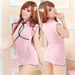 煽動美體 開襟東森購物 發票薄紗蕾絲短裙性感睡衣BE-9008060