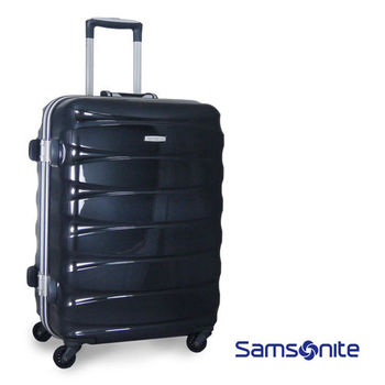 Samsonite新秀麗 Oval系列24吋亮面鋁框行李箱-黑