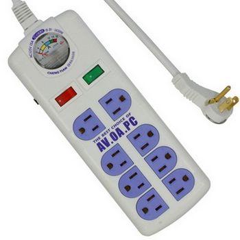 附電流表式 3孔8座2切安全延長線 1.8m(TC-696)