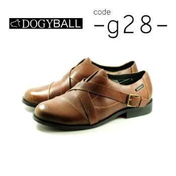【DOGYBALL】G28 搖滾都會皮鞋 棕色