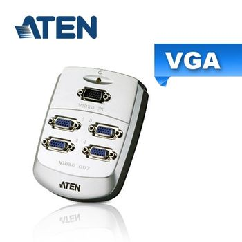 ATEN 1進4出VGA螢幕分配器(VS84) 壁掛式