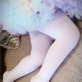 【華貴絲襪】超細棉絨兒童韻律跳舞襪芭蕾舞襪-白色(6雙)
