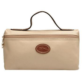 LONGCHAMP中型提袋化妝收納包-米紙色3700089-555
