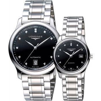 LONGINES Master 巨擘大三針真鑽機械對錶
