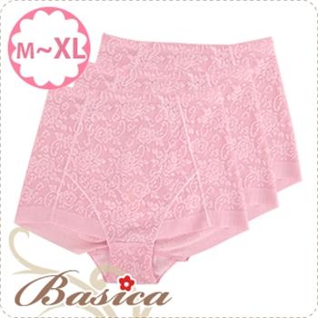 【蓓氏嘉】彈力無痕平口束褲三件組 M-XL no.751(莓粉)