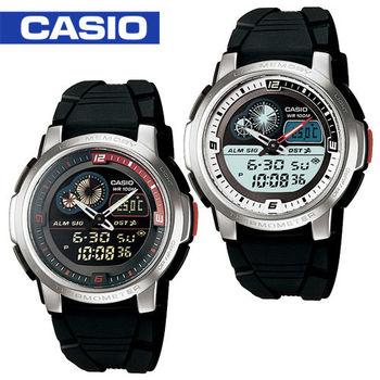 【CASIO 卡西歐】日系-多功能溫度雙顯錶(AQF-102W)