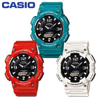 【CASIO 卡西歐】艷彩太陽能_數位雙顯錶(AQ-S810WC)