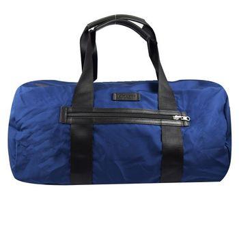 【COACH】93313 簡約素雅尼龍可折疊大旅用波士頓包(藍)