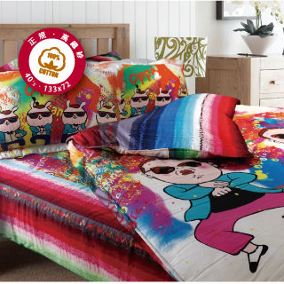 【Casa Aroma】騎馬舞精梳棉雙人 四件式涼被床包組