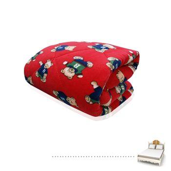 【Lapin】熊寶 紅厚鋪棉暖暖被5x6.2