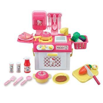 【Hello Kitty】卡娃伊系列 KT流理台瓦斯爐玩具組