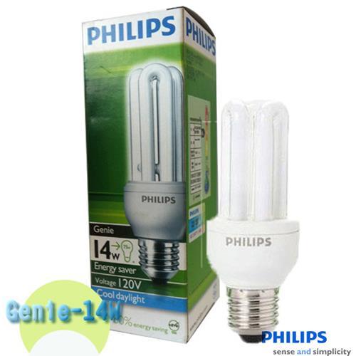 PHILIPS 飛利浦 Genie 14W 3U省電燈泡2入特惠組