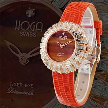 HOGA浪漫花舞寶石鑽錶-寶石面盤-36mm