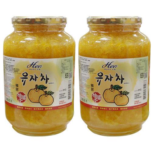 HIGH TEA 芳第 韓國進口蜂蜜柚子茶2kgX2罐