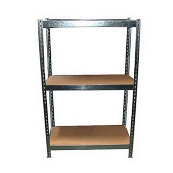 DIY 3層2格鍍鋅(錏板)免螺絲角鋼架122X46.5X61