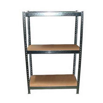 DIY 3層2格鍍鋅(錏板)免螺絲角鋼架61.5X46.5X61