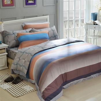 【義大利La Belle】夢羅莎蔓天絲雙人四件式舖棉兩用被床包
