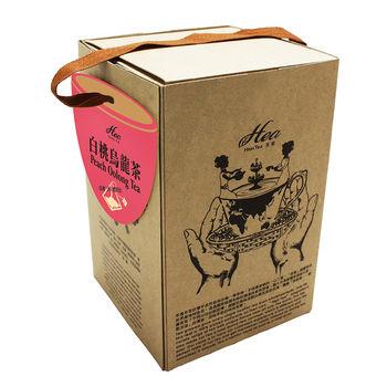 HIGH TEA芳第 白桃烏龍茶-手提式禮盒 4gX20入三角立體獨立防潮茶包 (8盒/組)