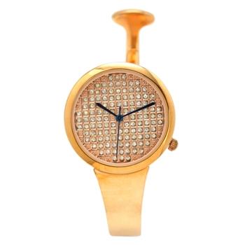 DILONGER 豪出滿鑽錶面半扣手環錶