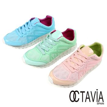 【OCTAVIA】果凍底粉蠟筆網面運動鞋
