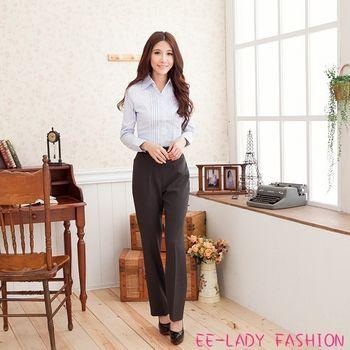 【EE-LADY】夏季台製素面微彈性西裝褲-深灰(M-XL)