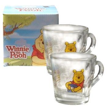 【Disney】小熊維尼 玻璃馬克杯(360cc)二入組