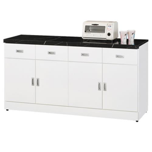 【顛覆設計】好媽媽純白5.3尺石面餐櫃