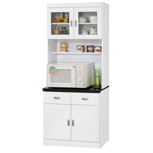 【顛覆設計】好媽媽純白2.7尺石面餐櫃全組