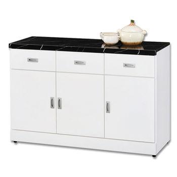 【顛覆設計】好媽媽純白4尺石面餐櫃