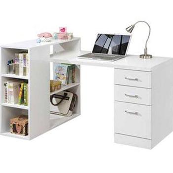 【顛覆設計】天才雷普利書架型書桌(白色)
