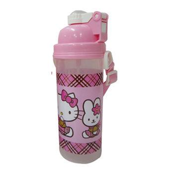 【Hello Kitty】背帶式彈跳水壺(700cc)