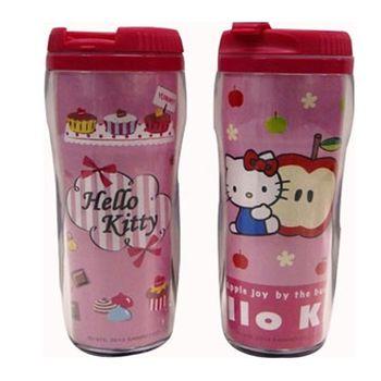 【Hello Kitty】蘋果及蛋糕圖案隨手杯(380cc)二入組