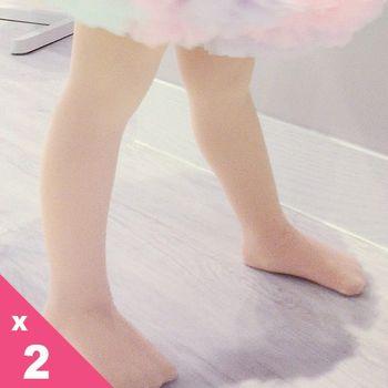 【華貴絲襪】超細棉絨兒童韻律襪-粉色(2雙入)