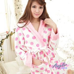 【天使霓裳】甜系戀冬綁帶兩穿式柔軟珊瑚絨睡袍浴袍睡衣PA1316粉