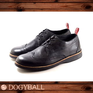 【DOGYBALL】Romeo 簡約極致經典牛津鞋(黑色)