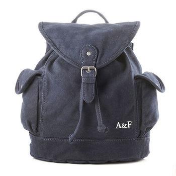 A&F 簡約格調厚實棉質後背包 (藍)