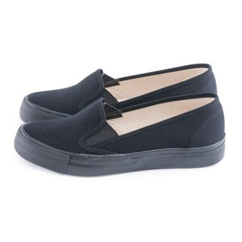 FUFA 彈性設計布面懶人鞋 (M25) 黑色