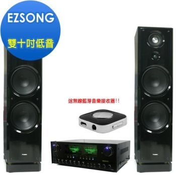 【MUSONIC】專業級落地式雙10吋低音喇叭音響組A10