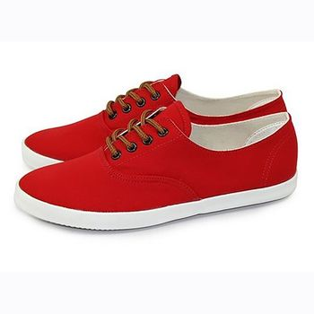 FUFA 素面簡約帆布鞋 (U39) 紅色