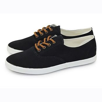 FUFA 素面簡約帆布鞋 (U39) 黑色
