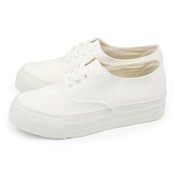 FUFA 素面低統厚底鞋 (T43) 全白