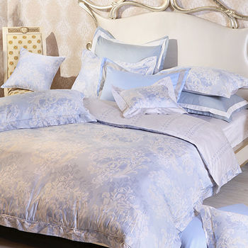 【義大利La Belle】MIT絢藍之光 加大四件式純棉被套床包組