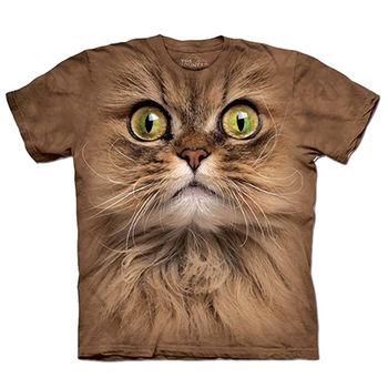【摩達客】預購(大尺碼)-美國進口The Mountain 布朗貓臉 T恤