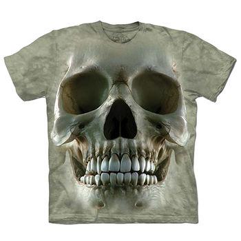 【摩達客】預購(大尺碼)-美國進口The Mountain 大骷髏臉 T恤