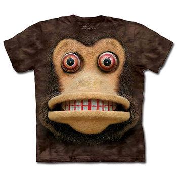 【摩達客】預購(大尺碼)-美國進口The Mountain 玩具猴臉 T恤