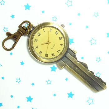 大鑰匙造型鎖扣項鍊二用錶