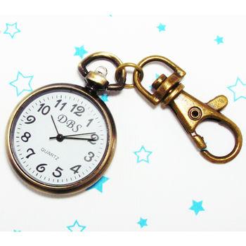 掛鐘造型鎖扣項鍊二用錶