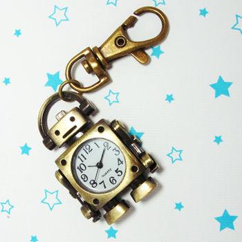 復古機械人造型鎖扣項鍊二用錶