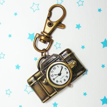 復古相機造型鎖扣項鍊二用錶