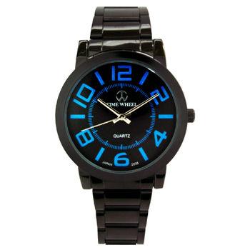 TIME WHEEL 偶數刻度黑鋼腕錶